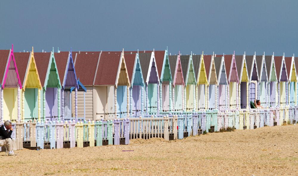 Photo in Sea and Sand #mersea #beach #hut #summer #pebbles
