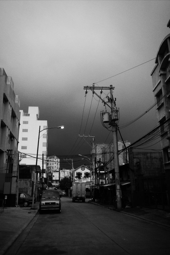 Photo in Street Photography #black and white #b&w #rain #clouds #ypa2013