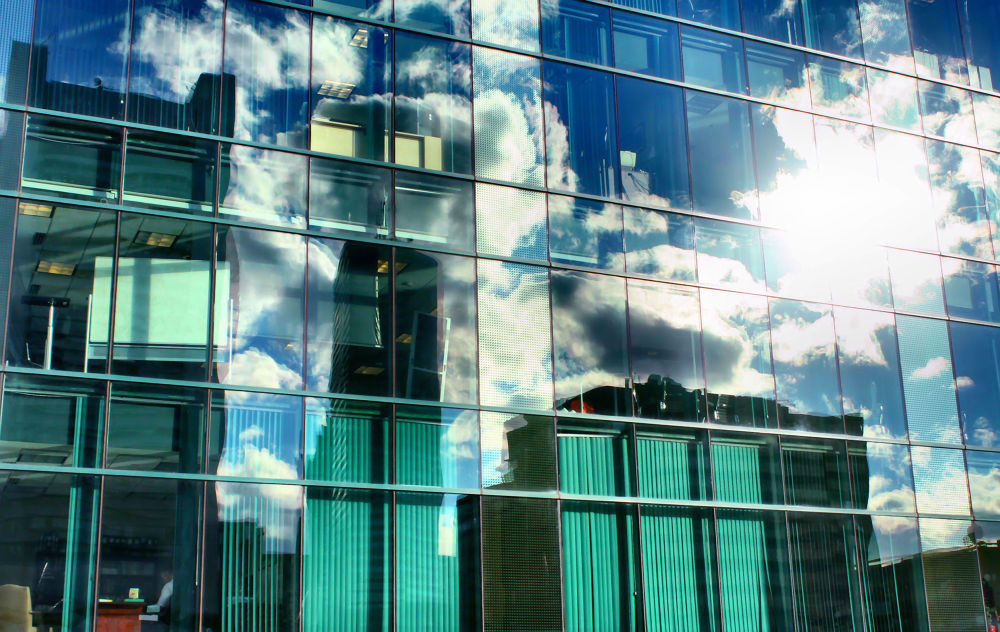 Sky of glass, building of clouds and light - Boston -- 9/6/13 by MishaOtaared