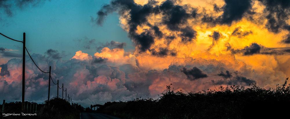 spectacular sunset by massimilianobenvenuti10