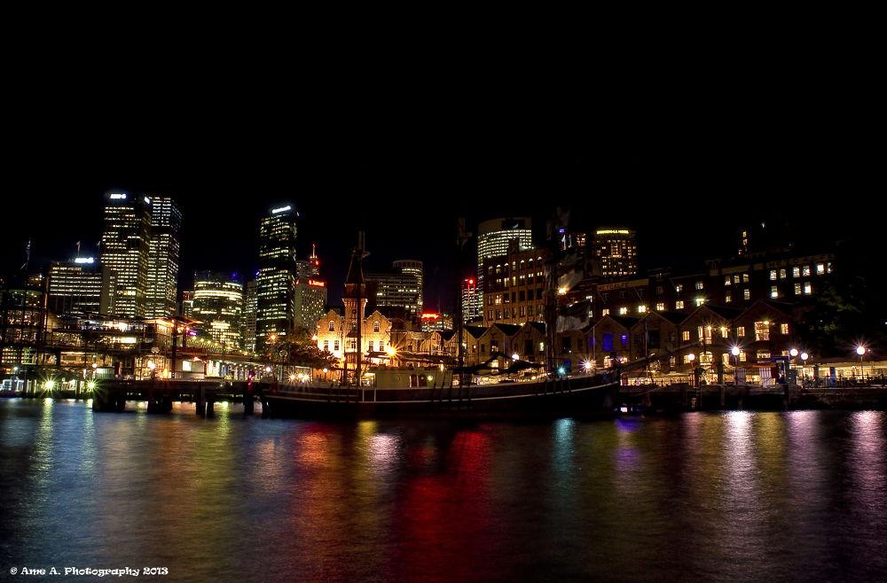 Photo in Random #ypa2013 #cityscape #landscape #colors #reflection #nightphotography #sydney #nsw #australia #scenery #views #inspiration #rainbow #lights #beauty #city
