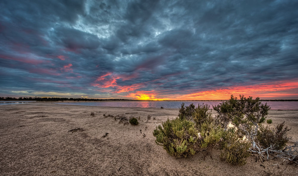 Photo in HDRI #hdr #sunrise #morawa #d3 #western australia #winter #salt flat #country