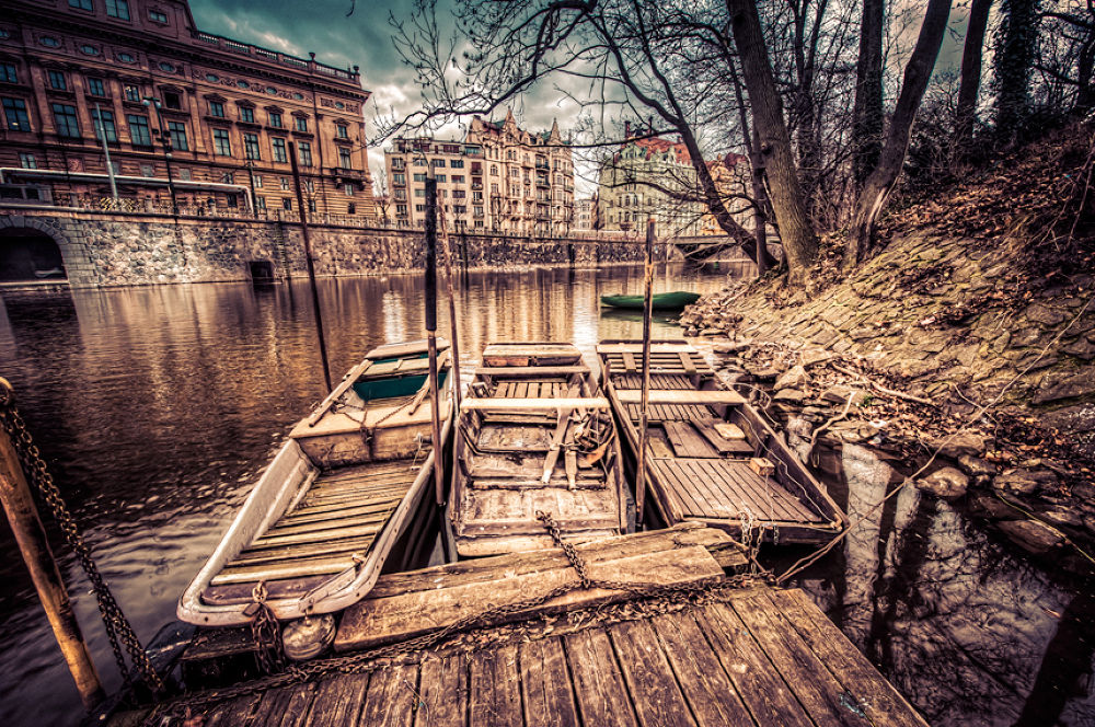 3-Old-Boats,-Prague by gjkingphotography