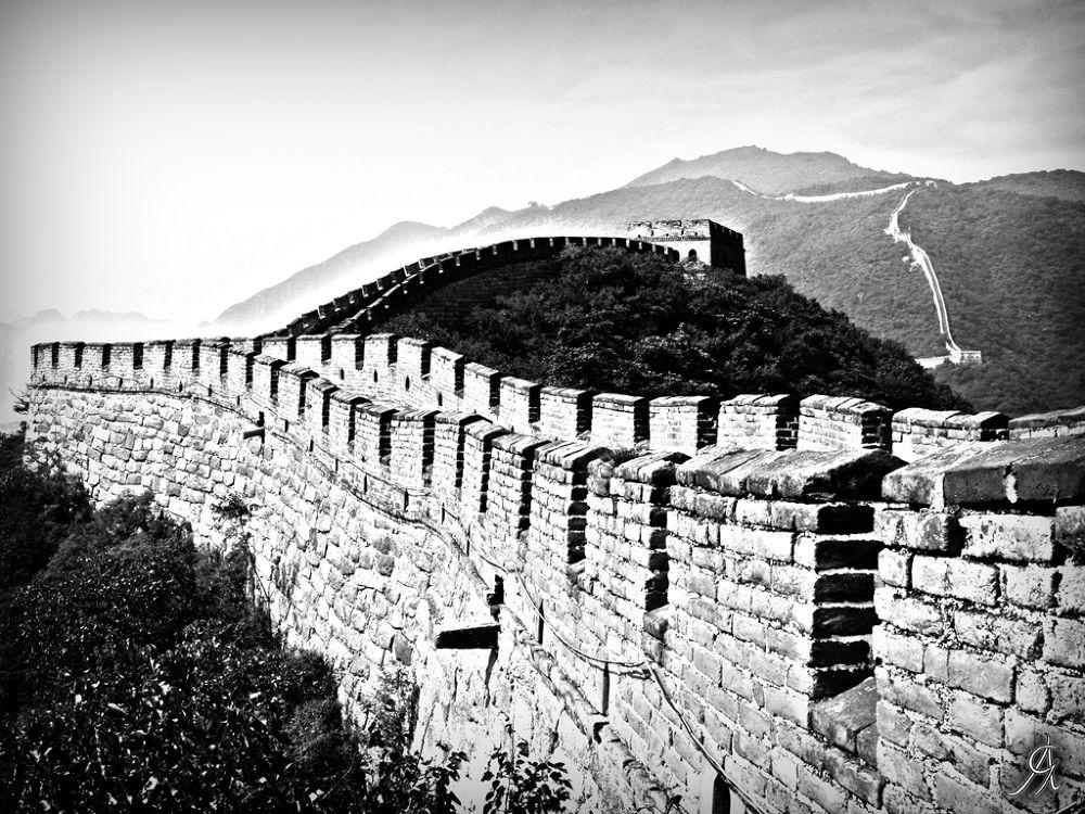 Black & White Great Wall by Alessandro Giorgi Art Photography