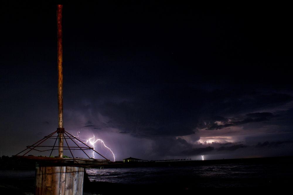 Photo in Random #ulcinj #montenegro #ada #bojana #delta #river #thunder #storm #flash #clouds #2013