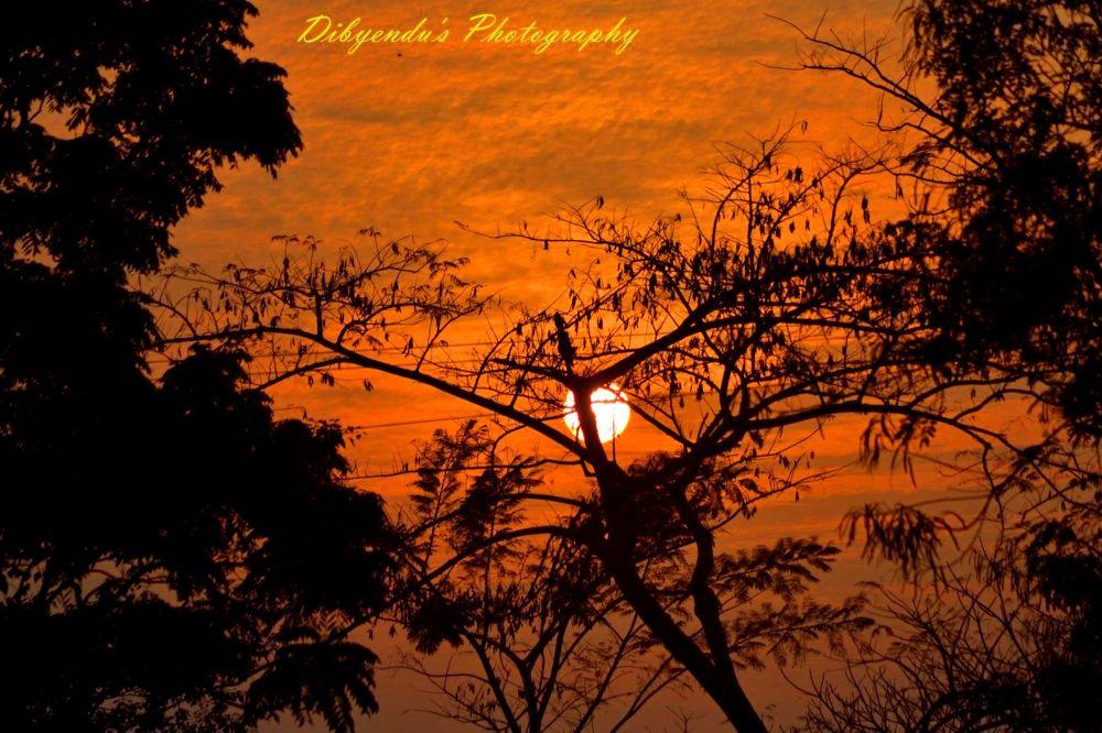 beautiful evening by dibyendu nath