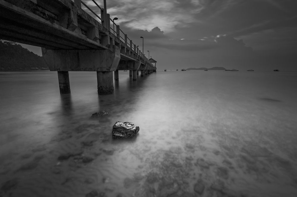 Photo in Landscape #black #white #long exposure