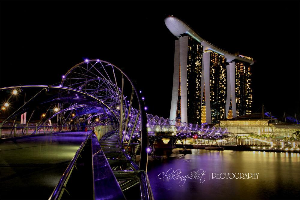 Singapore - Marina Sands Bay by clicksnapshot