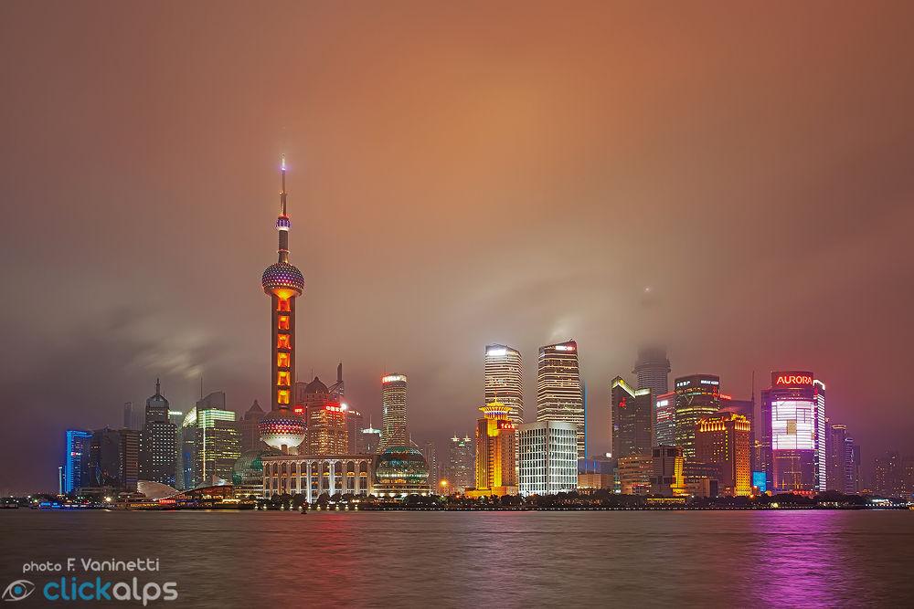 Shanghai - Pudong Skyline by francesco vaninetti