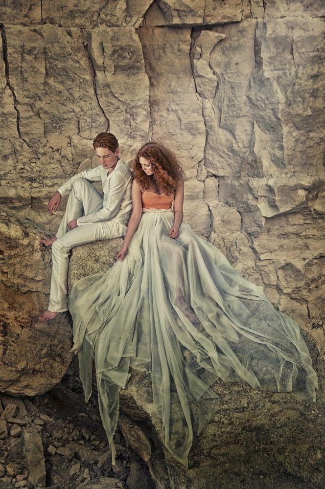 Photo in Fine Art #light #cave #redhair #couple #love #passion #feeling #childrenofthesun #danielacosniceanu.com #victordetto
