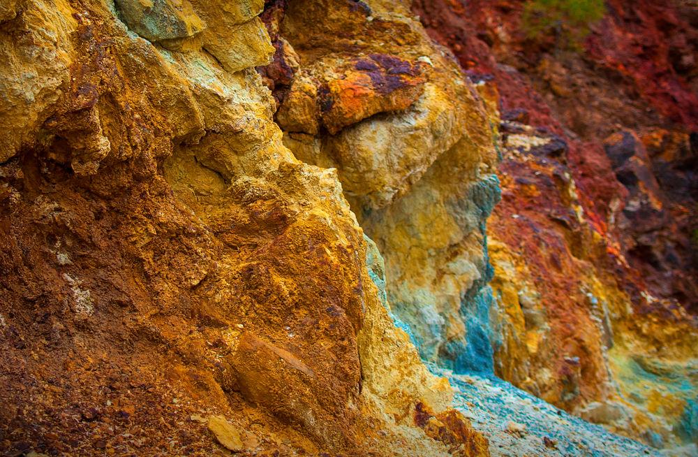 Photo in Nature #sand #colours #mine #toxic #iron #sulphur #blue #yellow #red #riotinto #seville #sevilla