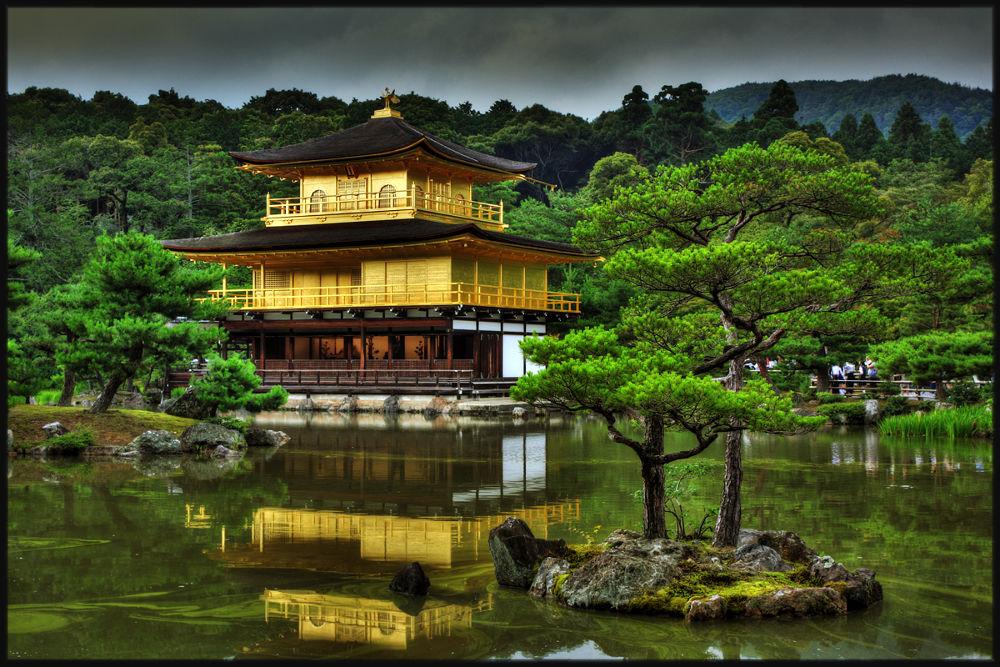 Photo in Architecture #japan #kyoto #golden pavillon #kinkakuji #hdr #temple #zen #meditation
