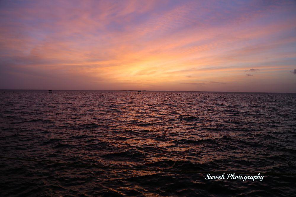 Sunset in Kumarakom by kvsuresh7