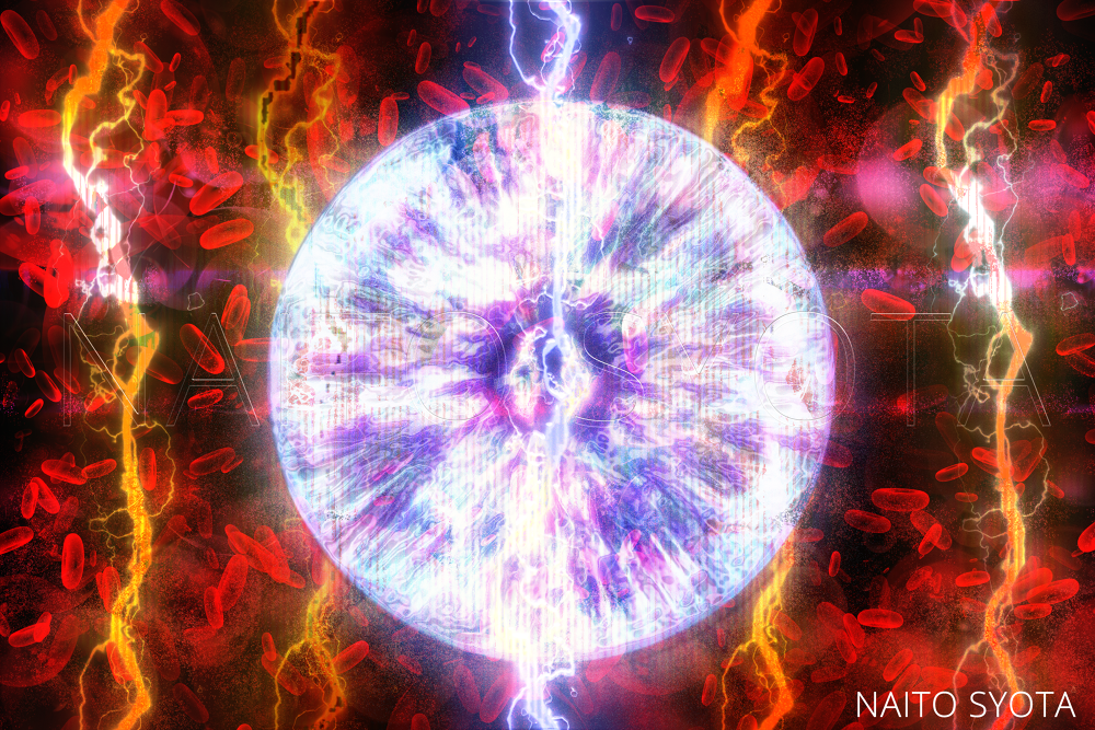 Rave of boiled-blood impact on us like interaction between plasmas. by naitosyota