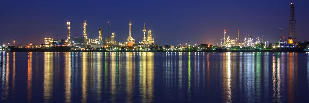 Thailand Bangjak Oil Refinery by Waraphorn Aphai
