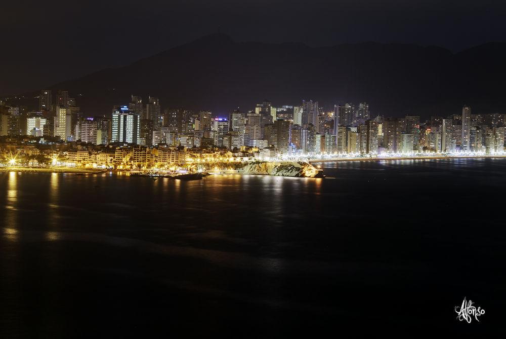 Photo in Landscape #astur56 #benidorm #alicante #spain #sea #mediterranean #lighting