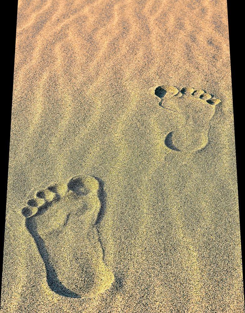 foot prints... by Abu Basad O Goni