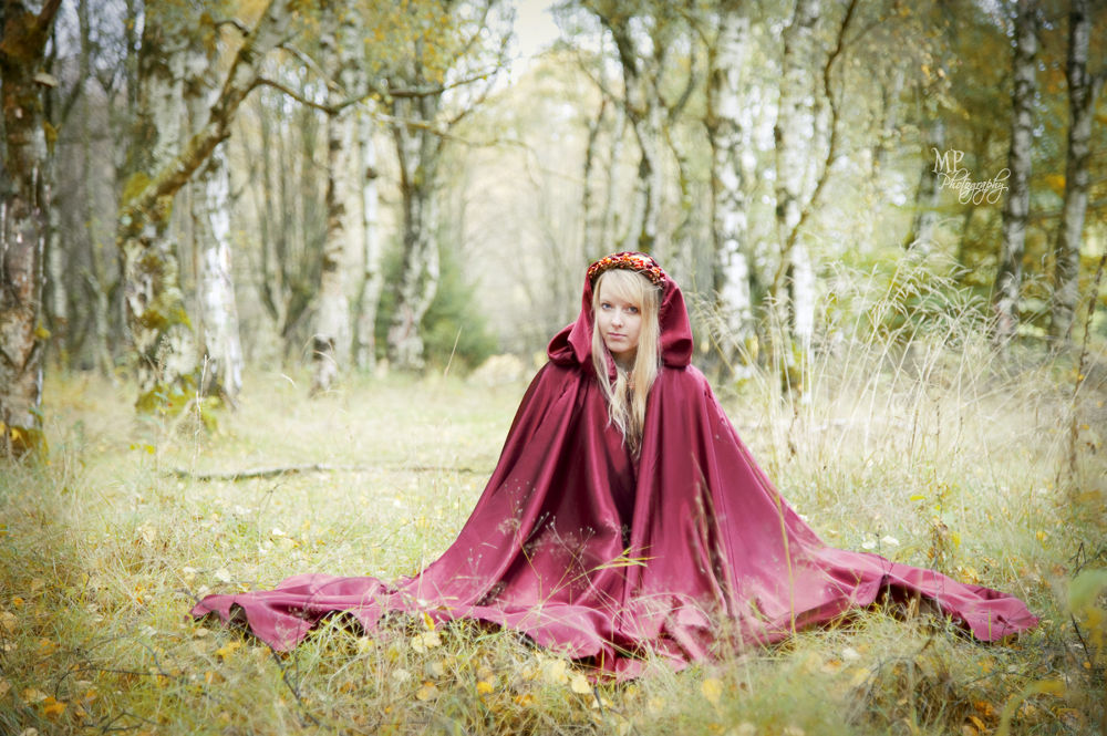Photo in Portrait #fairytale forest #fairytale #forest #woods #enchanted #brothers grimm #red cape #autumn #fall