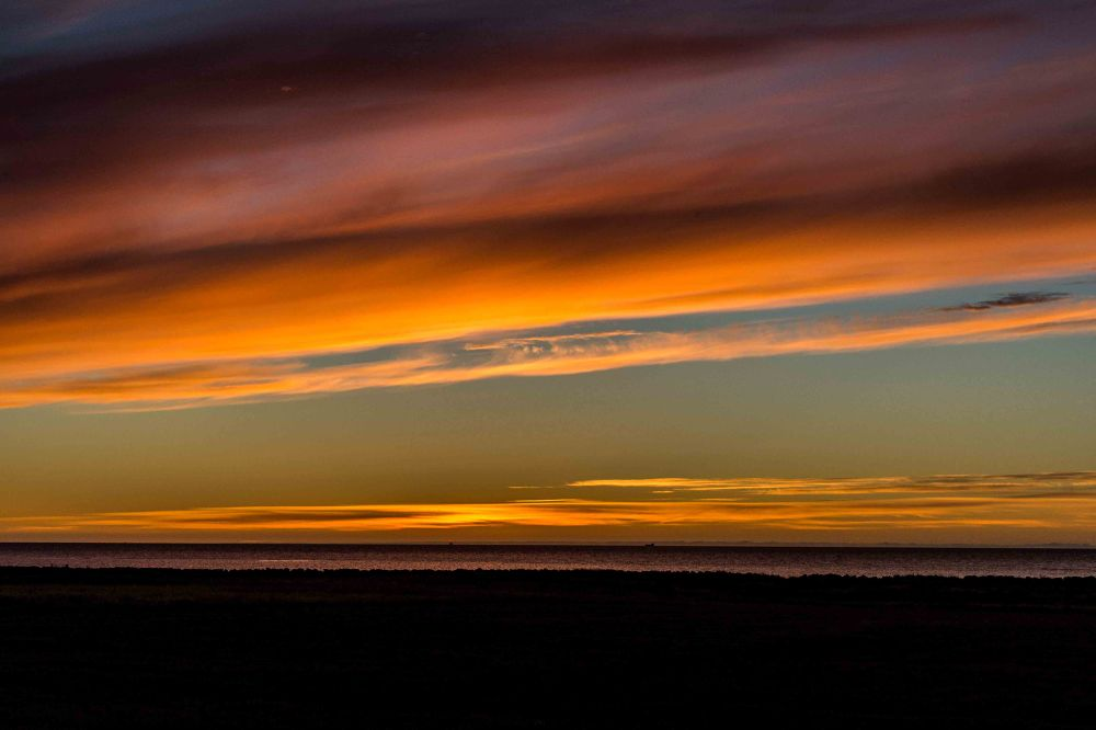 Photo in Random #iceland #sky #light #sunset #clouds #red #yellow #sea #ocean