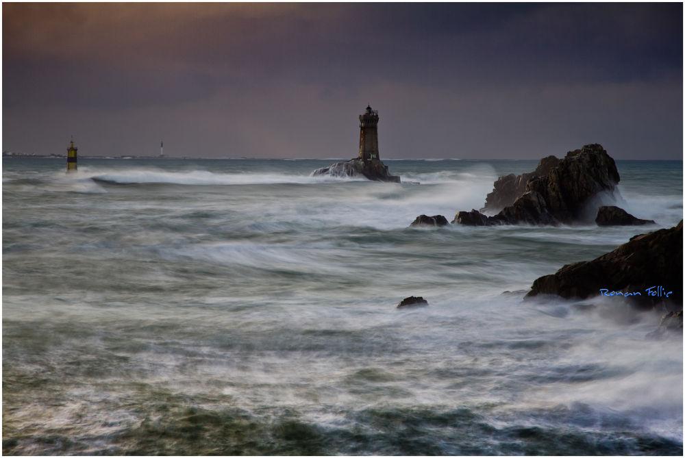 Photo in Landscape #france #bretagne #finistere #brittany #storm #tempête #ronan follic #pointe du raz #ile de sein #la vieille #phare #lighthouse #mer #sea #seascape #landscape #paysage