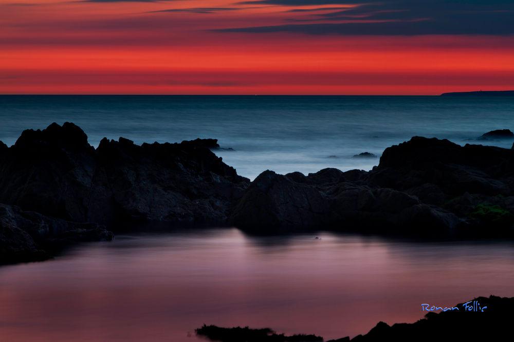 Photo in Landscape #france #bretagne #brittany #finistere #coucher de soleil #sunset #sunrise #rochers #rock #mer #sea #seascape