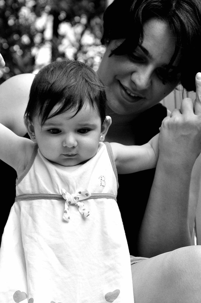 Photo in Portrait #baby #child #woman #girl #mother #mum #get up #alzarsi #steps #first #passi #little #hands #help