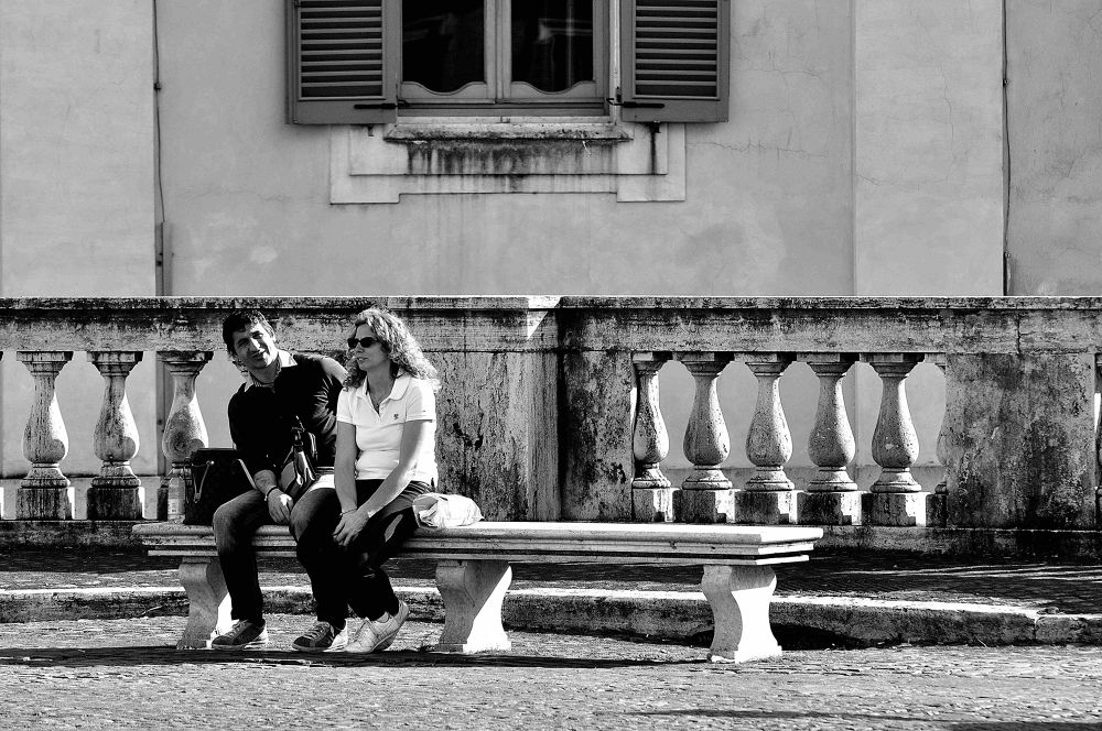 Photo in Street Photography #rome #love #city #people #man #woman