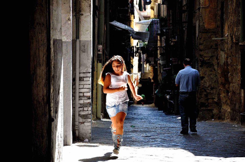 Photo in Portrait #napoli #naples #girl #city #steet #sun #light