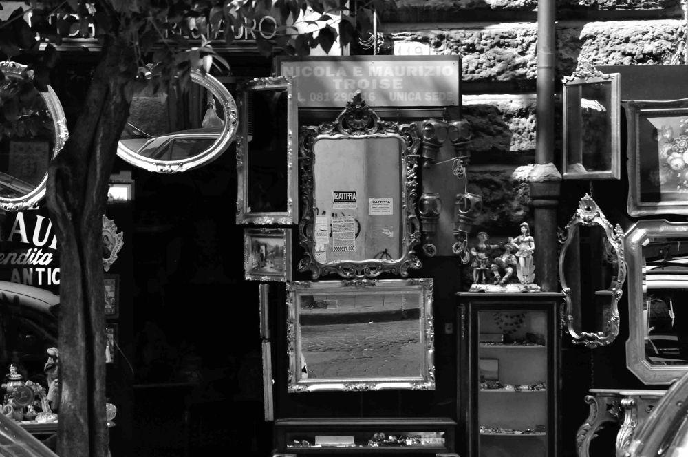Mirrors of Costantinopoli street. Napoli 2013 by luigiioriofotografia