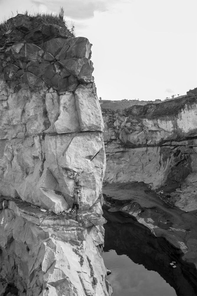 Photo in Landscape #rock #black and white #climbing rock #reflections #rochers #alone