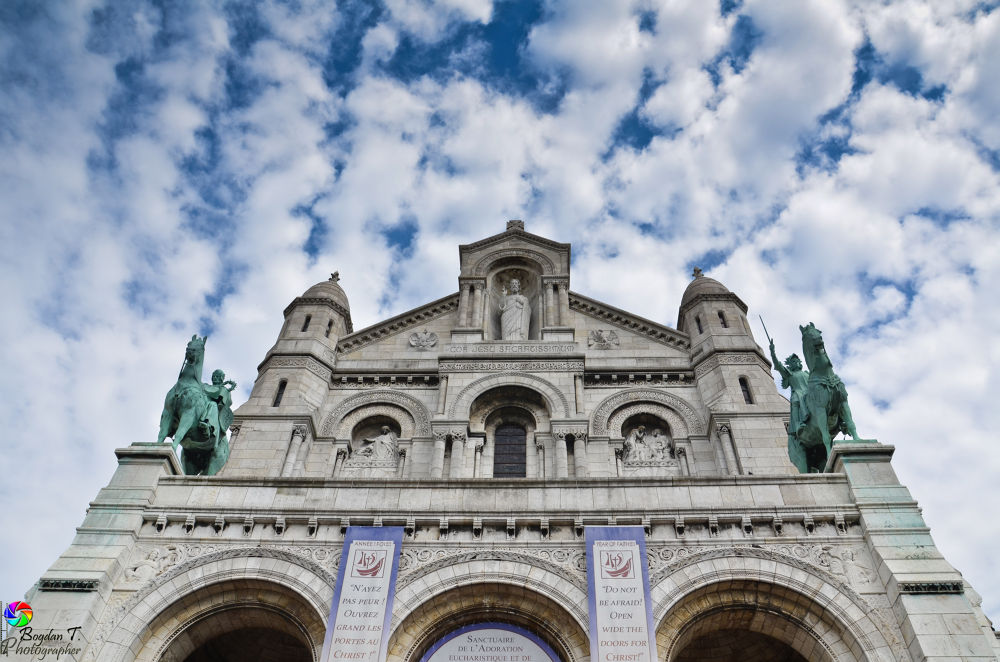 Photo in Architecture #bazilica #sacre #coeur #paris #arhitecture #clouds #city