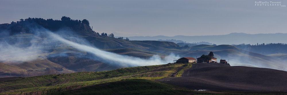 Photo in Landscape #morning #mattina #nebbia #fog #breath #natura #campagna #field