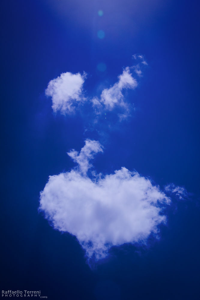 Photo in Random #sky #nuvole #cuore #numbs #heart #flare #blue #blu #cielo