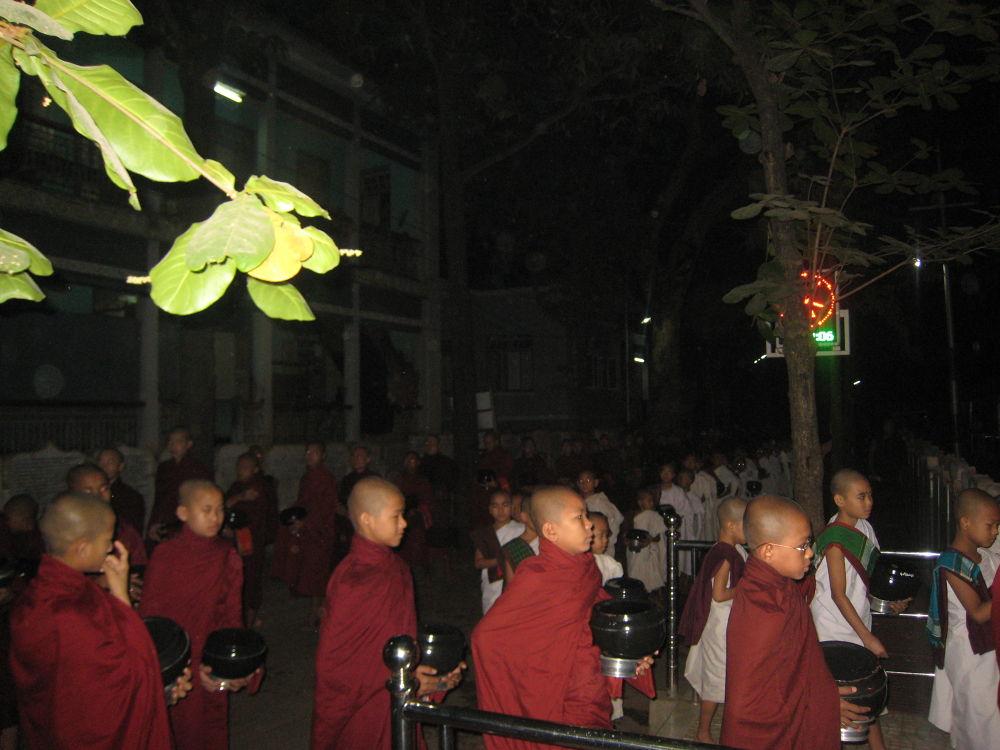 Morning Alms around @ Maha Gandharama Monastery in Amarapura, Mandalay by scarlet mon