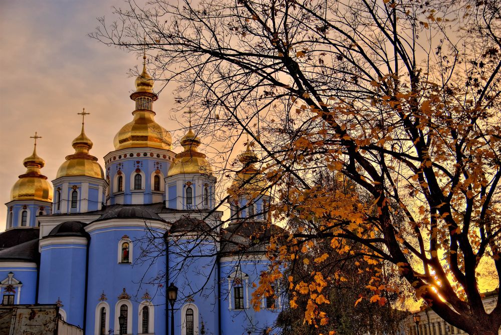 Ukraine, Kyiv. The Golden Dome Cathedral of St. Archangel Micael. by Ivan Sedlovskyi