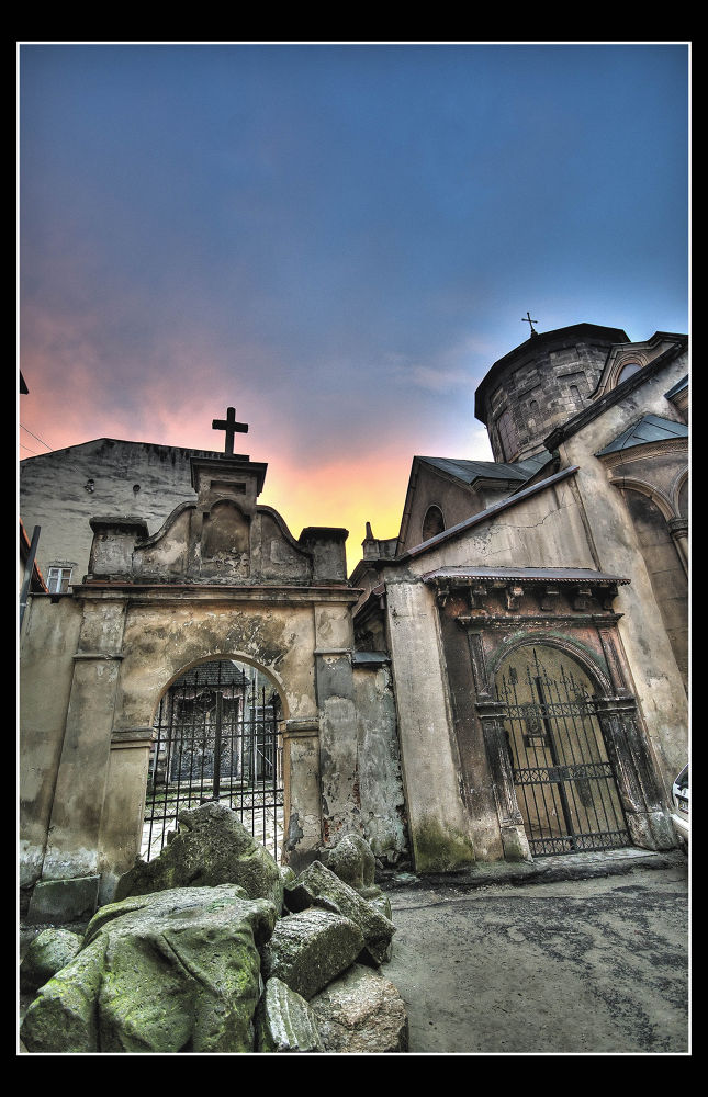 Ukraine, L'viv. The Old Armenian Church, sunset. by Ivan Sedlovskyi