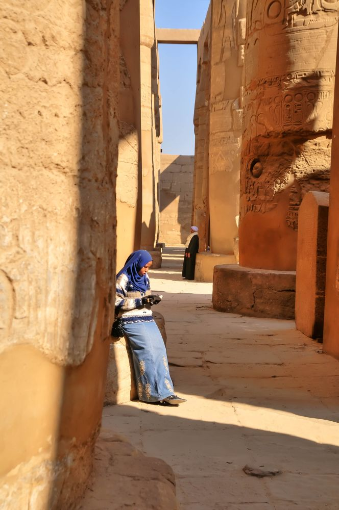 Egypt. In the Karnak temple. by Ivan Sedlovskyi