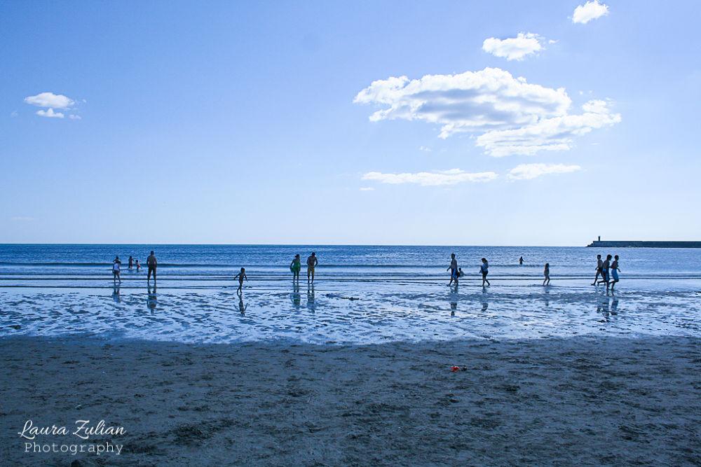 Photo in Random #ypa2013 #landscape #sea #seaside #beach #blue #blu #silouette #people #ocean #nature