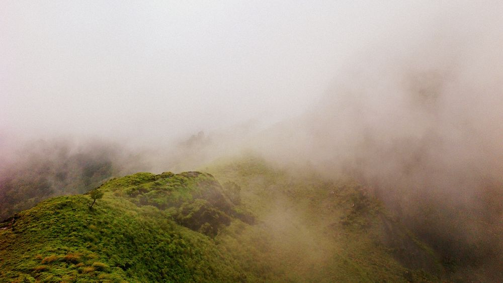 mountains in idukki covered with fog by Midhun Muraly