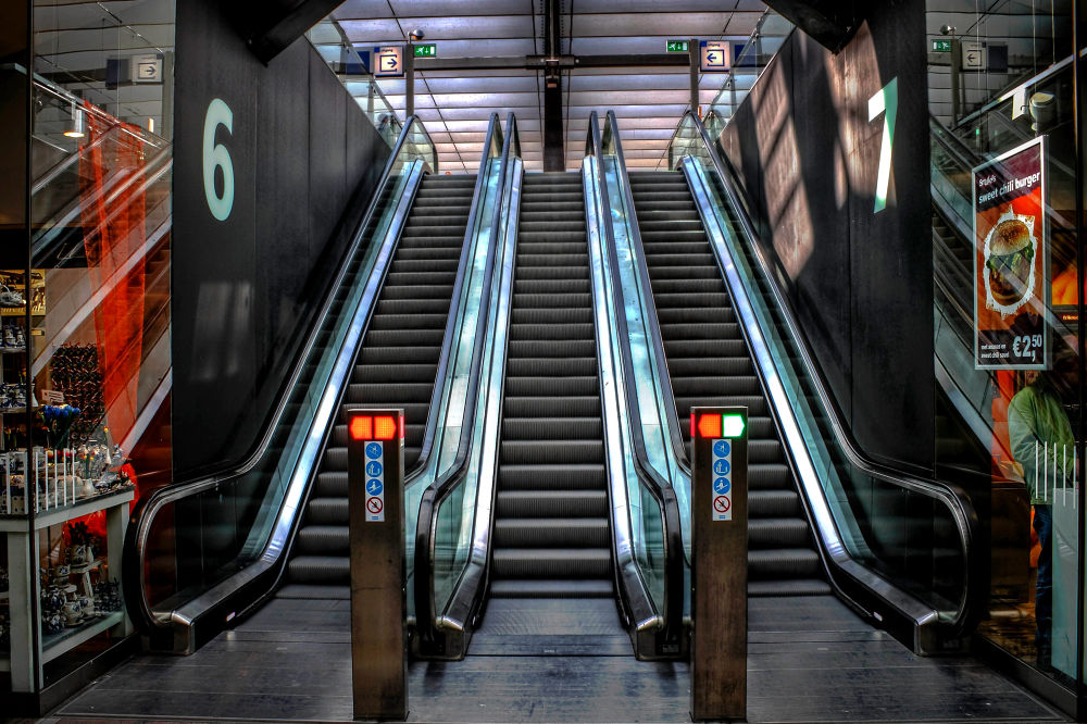 Escalator Rotterdam Central Station by frankbogers56
