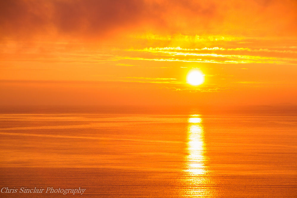 Photo in Random #sunset #sea #haugesund #norway #landscape #seapscape #sun #.sky #clouds #orange #colour #reflections