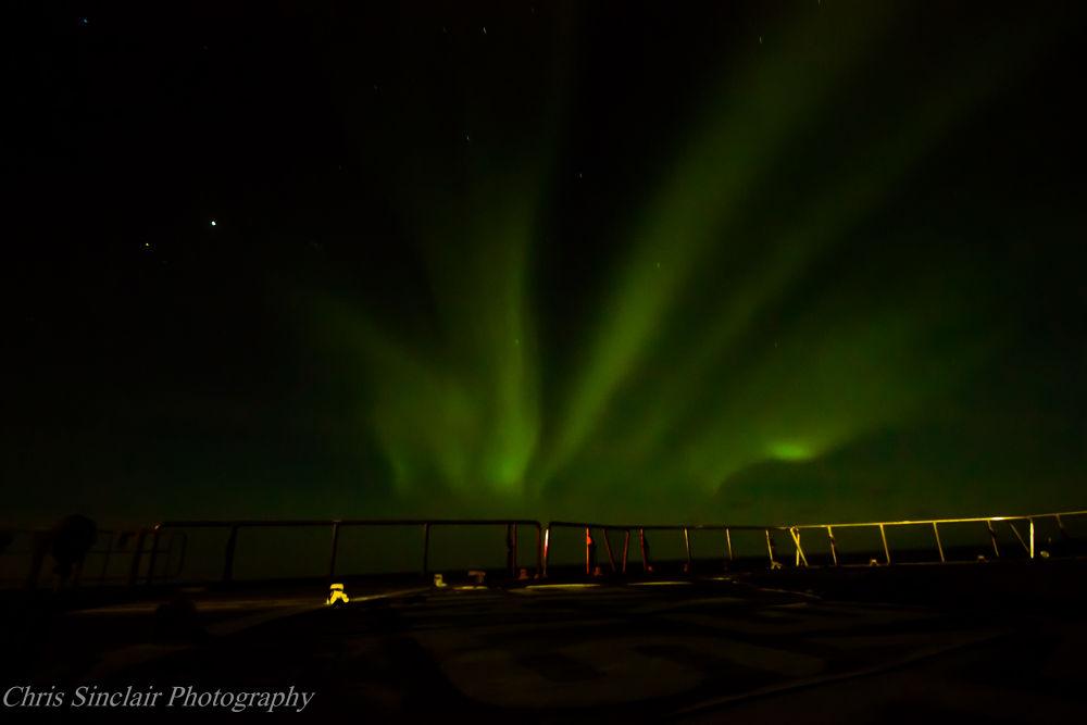 Photo in Astrophotography #aurora #aurora borealis #northern lights #ship #sea #arctic #night shot #sky #fan
