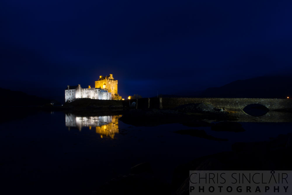 Nightfall on Eilan Donan Castle by Chris Sinclair
