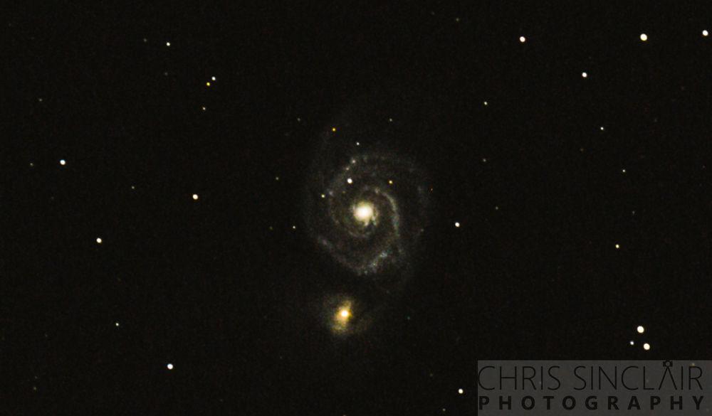 Whirlpool Galaxy by Chris Sinclair
