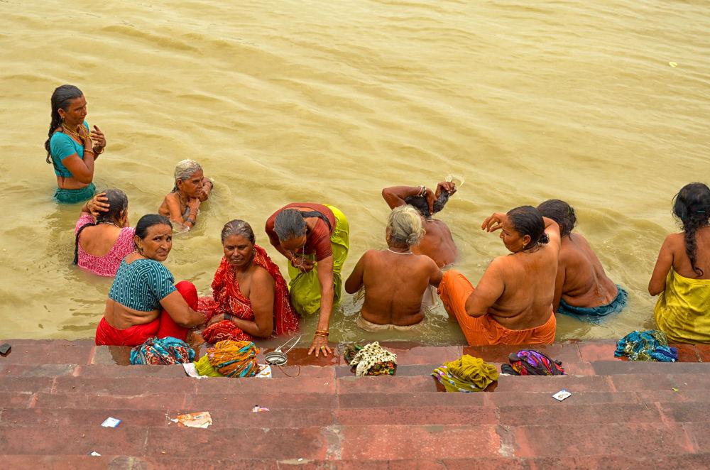 Holy Bath on Guru Purnima by Ila Sadhu
