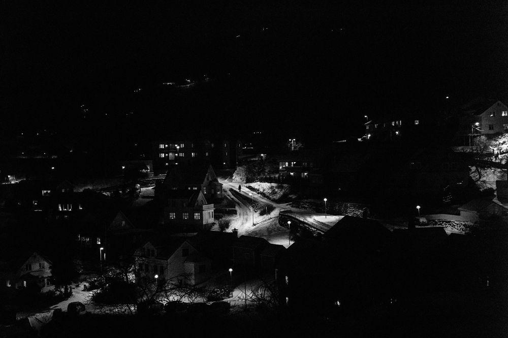 Photo in Random #hardanger #b&w #norway #night