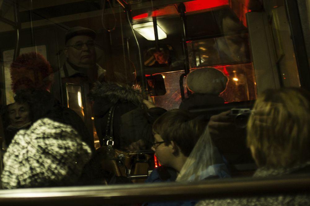 at night on the bus by MariuszMarczak