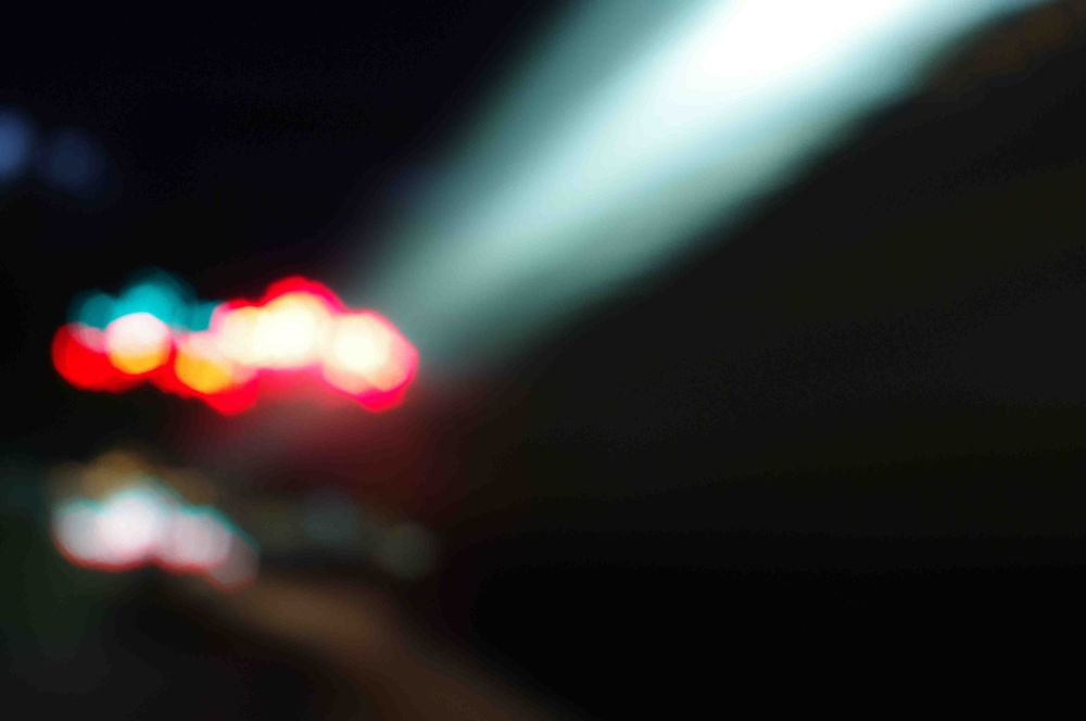 Photo in Abstract #bokeh #night photography #train #melbourne #australia