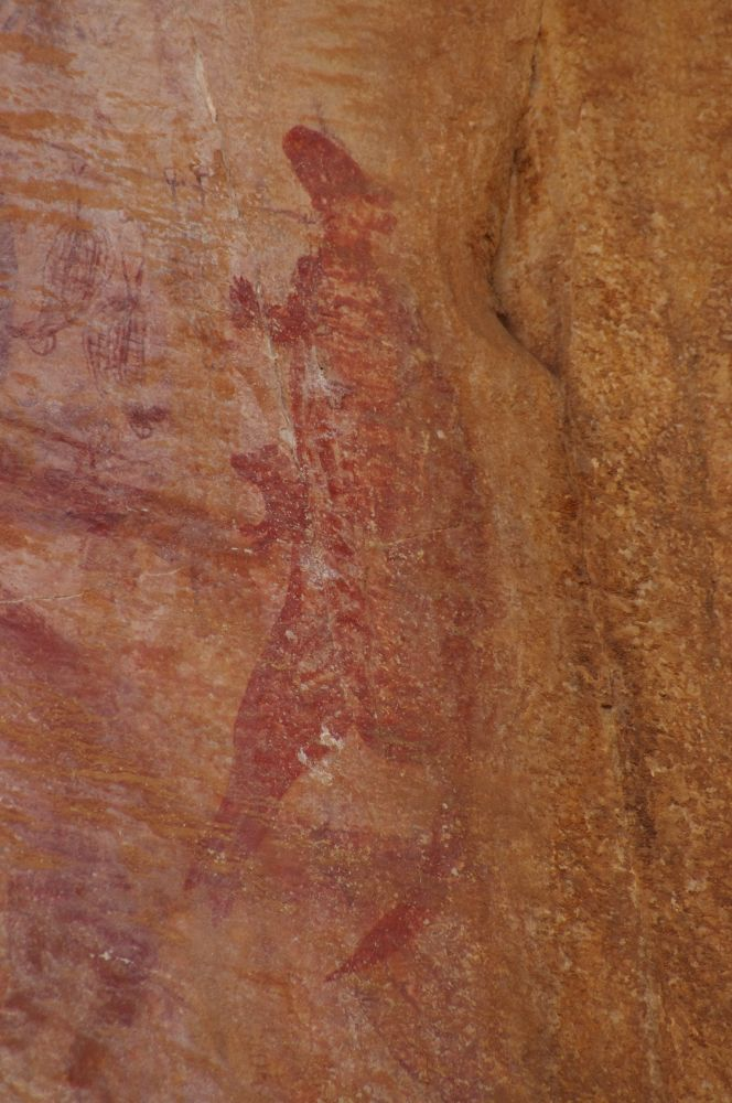 Aboriginal Rock Art - Kangaroo by katherineannpotter
