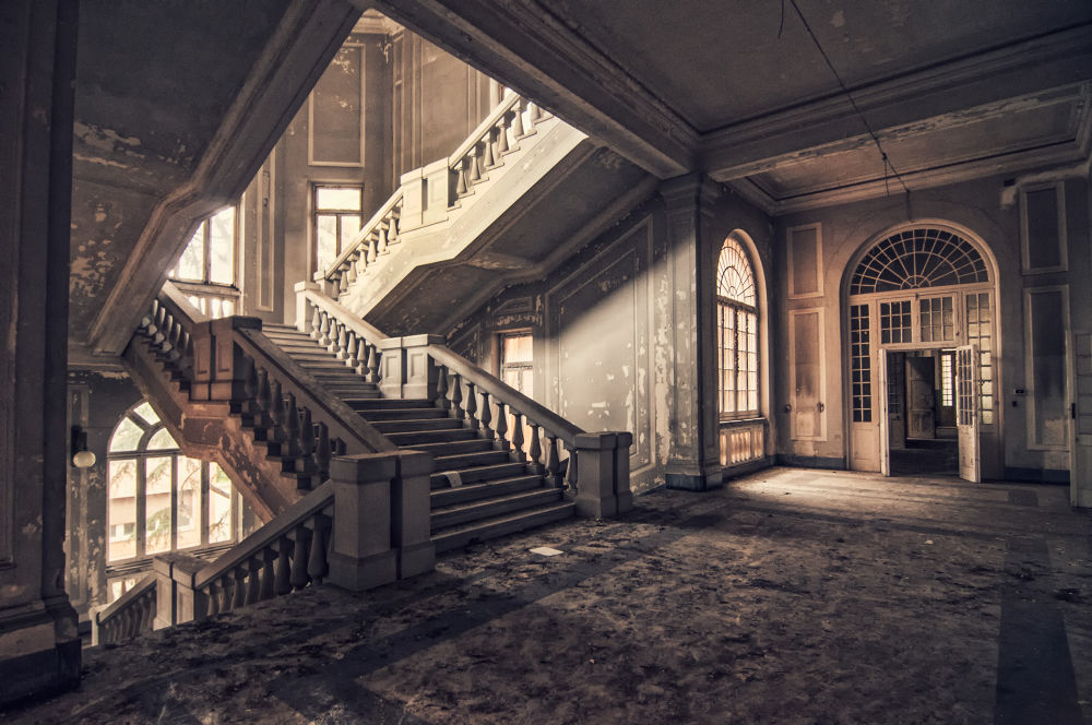 Photo in Architecture #architecture #place #abbandoned #mansion #stairs #old